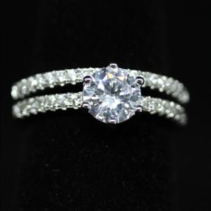Jewelry - Engagement Ring and Wedding Band Set
